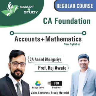 CA Foundation Accounts+Mathematics by CA Anand Bhangariya and Prof. Raj Awate