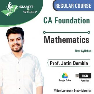 CA Foundation Mathematics by Prof. Jatin Dembla (new syllabus)