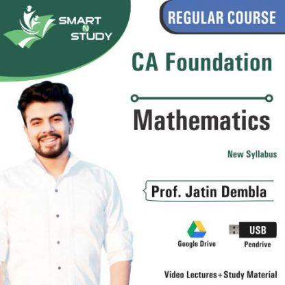 CA Foundation Mathematics by Prof. Jatin Dembla (new syllabus)