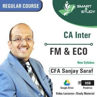 CA Inter Eco by CFA Sanjay Saraf