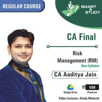 CA Final Risk Management (RM) By CA Aaditya Jain (new syllabus) Regular Course