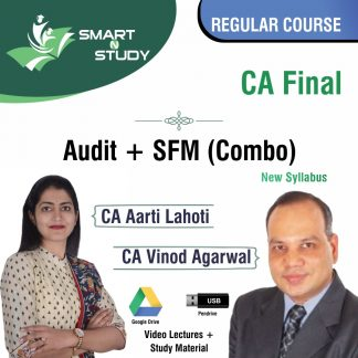 CA Final Audit+SFM (combo) by CA Aarti Lahoti and CA Vinod Aggarwal (new syllabus) Regular Course
