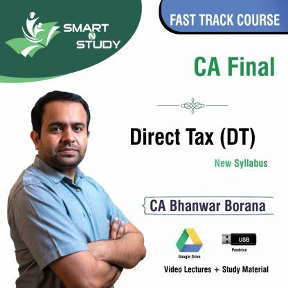 CA Final Direct Tax by CA Bhanwar Borana (new syllabus) Fast Track Course