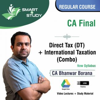 CA Final Direct Tax+International Taxation (Combo) by CA Bhanwar Borana Regular Course
