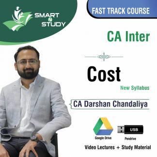 CA Inter Cost by CA Darshan Chandaliya (new syllabus) Fast Track Course