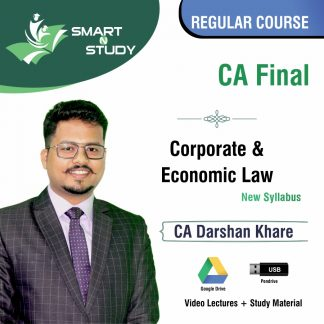 CA Final Corporate & Economic Law by CA Darshan Khare (new syllabus) Regular Course