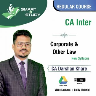 CA Inter Corporate and Other Law by CA Darshan Khere (new syllabus) Regular Course