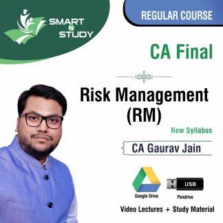 CA Final Risk Management (RM) By CA Gaurav Jain (new syllabus) Regular Course