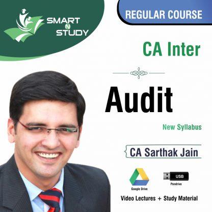 CA Inter Audit by CA Sarthak Jain (new syllabus) Regular Course