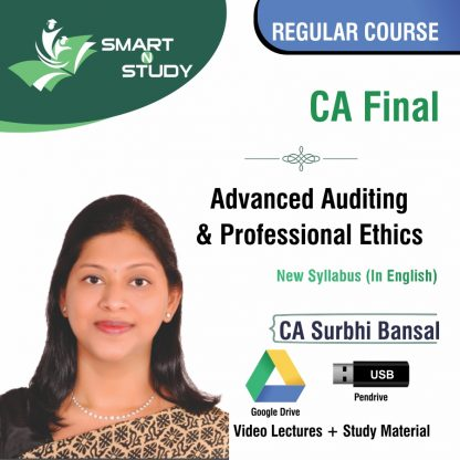 CA Final Advanced Auditing and Professional Ethics by CA Surbhi Bansal (new syllabus in English) Regular Course