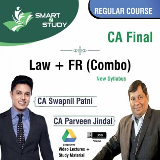 CA Final Law+Audit (Combo) by CA Swapnil Patni and CA Parveen Jindal (new syllabus) Regular Course