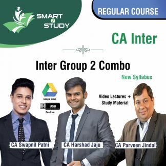 CA Inter Group 2 Combo by CA Swapnil Patni, CA Harshad Jaju, and CA Parveen Jindal Regular Course (new syllabus)