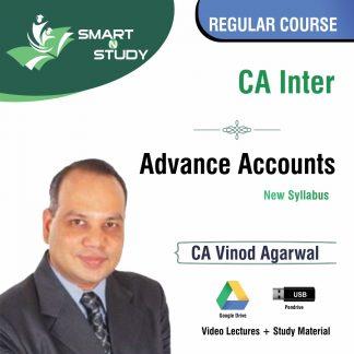 CA Inter Advanced Accounts by CA Vinod Agarwal (new syllabus) Regular Course