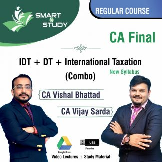 CA Final IDT+DT+International Taxation (combo) by CA Vishal Bhattad and CA Vijay Sarda (new syllabus) Regular Course