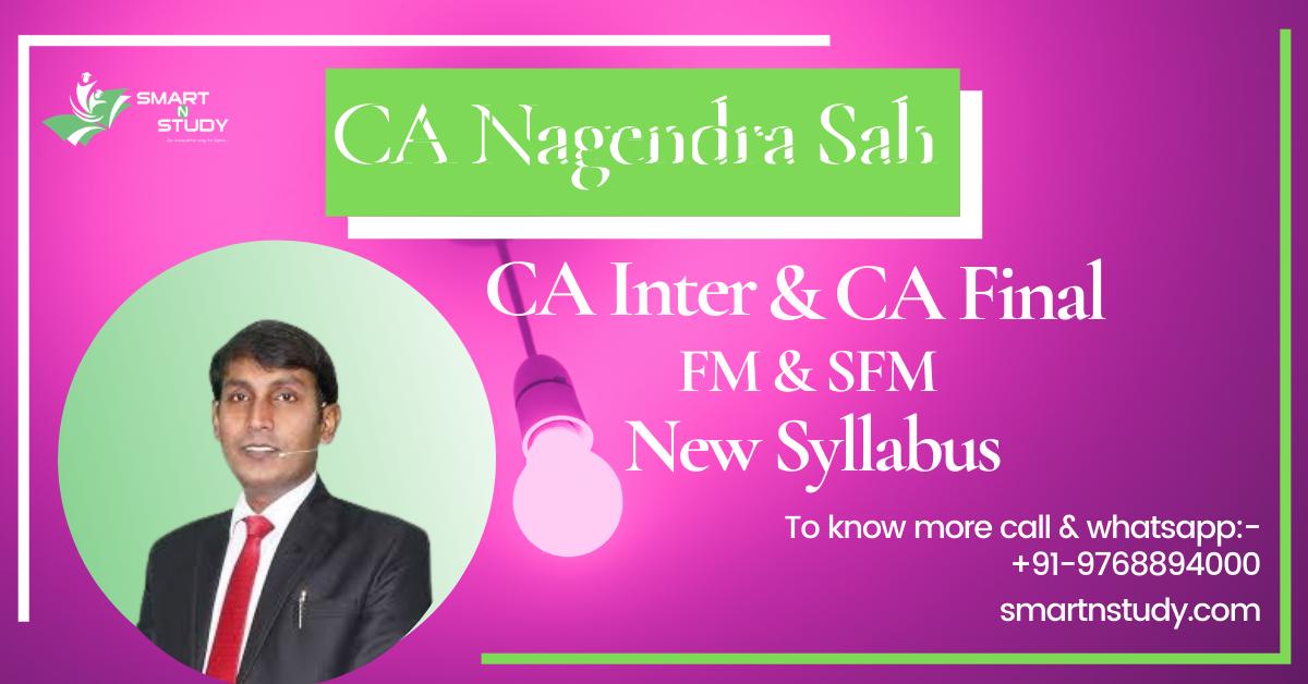 CA Nagendra Sah FM & SFM CA Inter & CA Final